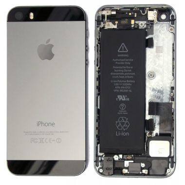 Apple iPhone 5S Full Housing Gehäuse Backcover Schwarz-Silber