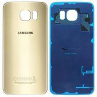Samsung Galaxy S6 Edge Back Glas Cover Akku Deckel Gold