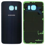 Samsung Galaxy S6 Back Glas Cover Akku Deckel Saphir Blau