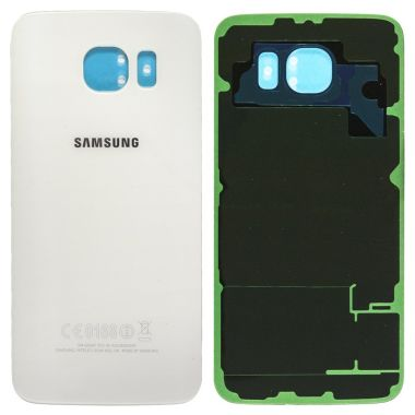 Samsung Galaxy S6 Back Glas Cover Akku Deckel Saphir Weis